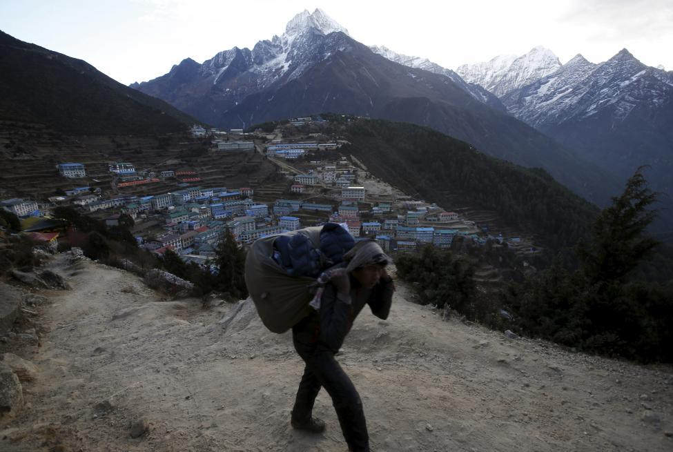 A general view of hotels and houses at Namche in the Solukhumbu district, also known as the Everest region, in this picture taken November 30, 2015. REUTERS/Navesh Chitrakar