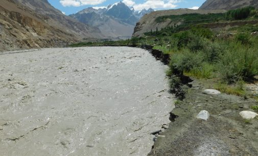 Shimshal River damages bridge, forests, link road at several points