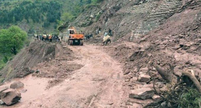 Gilgit-Skardu Road blocked due to landslides